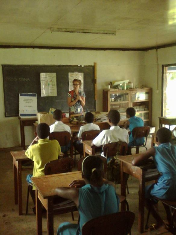 Teaching reproductive health in a rural Fijian primary school