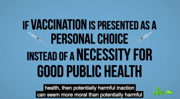 Hank Green, The Science of Anti-Vaccination https://www.youtube.com/watch?v=Rzxr9FeZf1g#t=86